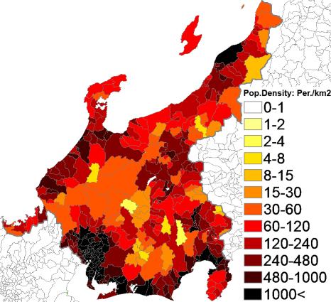 149Population density administrative boundaries map of Chbu