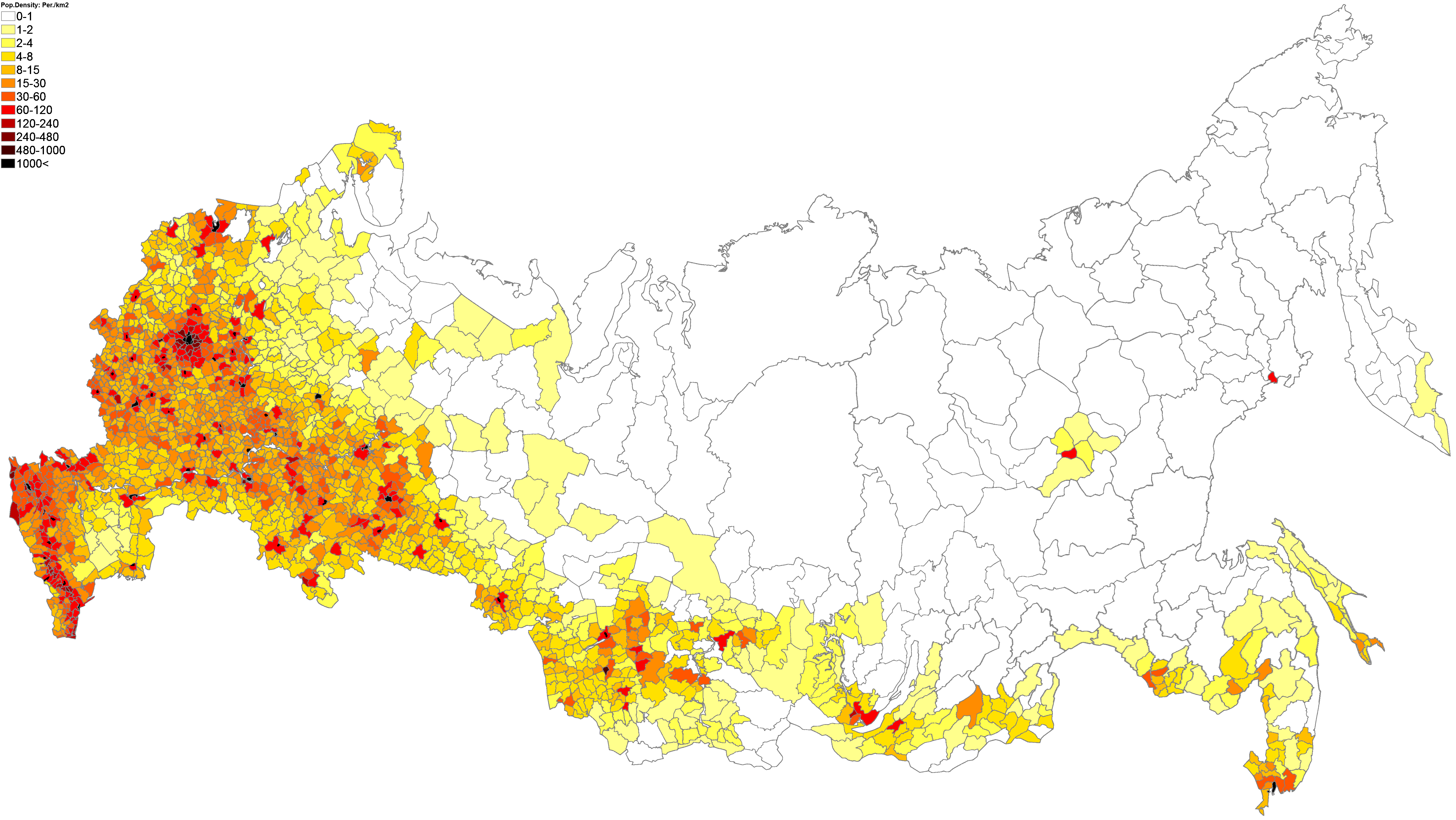69.Population Density (administrative Boundaries) Map Of
