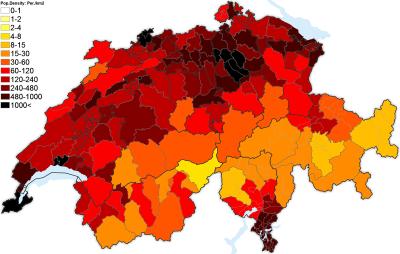 Amanpreet Kaur Ap Hug Blog - Population density in switzerland 2015